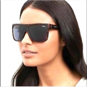 Quay oversized tortoise navy sunglasses